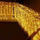 MOVEONSTEP catena luminosa 300 Led 33m corda leggera bianca 8 modalità impermeabile decorazione interna ed esterna è adatta a
