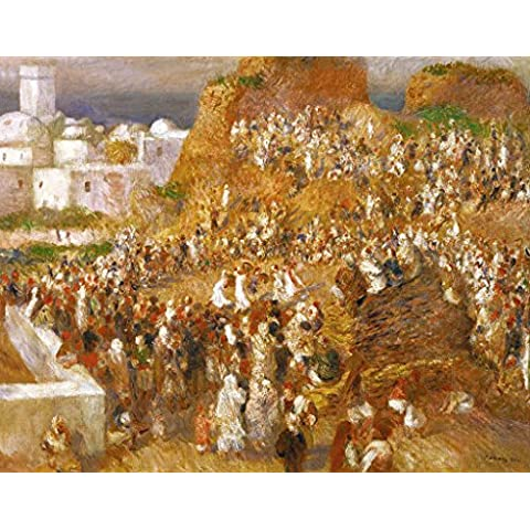 "Stampa artistica / Poster: Pierre Auguste Renoir ""La Mosquee, fete arabe"" - stampa di alta qualità, immagini, poster artistici, 95x75 cm"