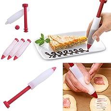 Xiak Silikon Essen Schreiben Stift Injektionsspritzenform Kuchen Cookie Creme Gebäck Schokolade Dekorieren Stift