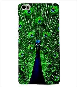 ColourCraft Dancing Peacock Back Case Cover for XIAOMI MI 5