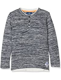 TOM TAILOR Kids Jungen T-Shirt Henley with Grindle Optic