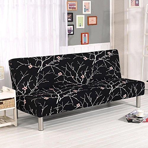 Demiawaking fodera copridivano senza braccioli fodera per divano elastico pieghevole antiscivolo in poliestere copertura del divano decorazione domestica