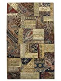 Pak Persian Rugs Handgeknüpfter Flicken Teppich, Mehrfarbig, Wolle, Small, 109 X 175 cm