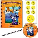 TASTENZAUBEREI - mit CD + Piano-Bleistift + 7 lustige Smiley-Sticker - Klavierschule Band 2 von Aniko Drabon - der zauberhafter Einstieg ins Klavierspiel! [Spiralbuchbindung / Musiknoten]