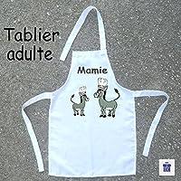 Texti-Cadeaux-Tablier cuisine adulte Ane à personnaliser Exemple: Mamie, Maman, Anne Marie