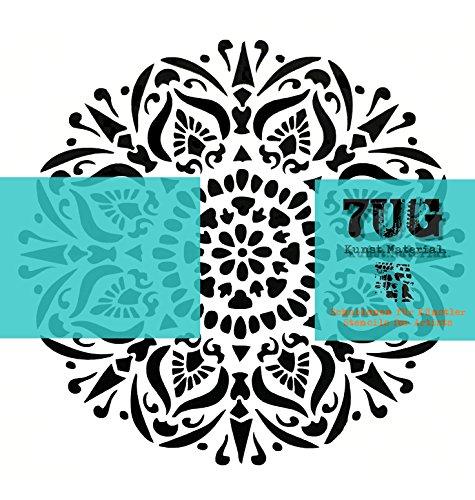7UG Designer Schablone Madrid Rosette/Mixed Media, Scrapbooking, Modellbau -
