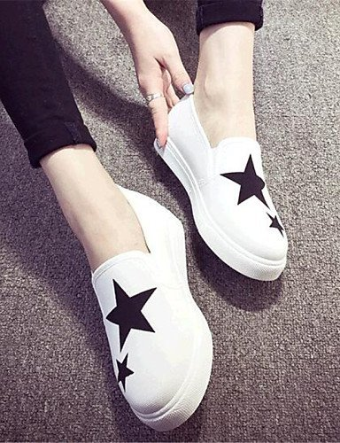 Shangyi Gyht Zapatos De Mujer-mocasines-ocio / Casual-cómodo-plano-cuerda-negro / Azul / Rojo / Blanco Azul Oscuro