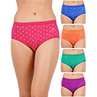 RVB Fashions Women's Cotton Panties (Pack of 5) Color May Vary