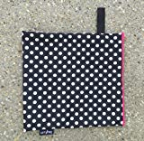 Luv Bug Wet Bag for Cloth Diapers, Swimwear, and Burp Cloths, Polka Dots with Pink Zip