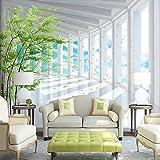 Amazhen 3D stereoskopischen Raum Blauer Himmel Wald Wandbild Wallpaper Benutzerdefinierte Moderne Wohnzimmer TV Hintergrund Wand 3D-Effekt Fototapete