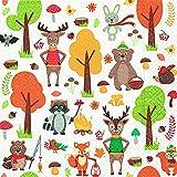 20 Servietten Tiere im Wald Fuchs Hirsch Hase Herbst 33x33 cm