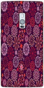 Snoogg floral seamless pattern Hard Back Case Cover Shield For Oneplus Two