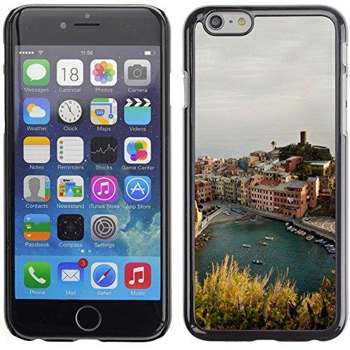 Graphic4You Manarola Italy Postkarte Ansichtskarte Design Harte Hülle Case Tasche Schutzhülle für Apple iPhone 6 Plus / 6S Plus Vernazza