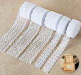 Absofine 50M Spitzenbordüre Spitzenband Weiss Beige Vintage Set Gesamt 5 Rolls Zum Nähen Für Hochzeit Tischdeko Basteln Geschenkband