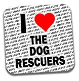 I love Rettungskräfte der Hund Getränke Untersetzer–Geschenk–Geburtstag–Weihnachten–Strumpffüller
