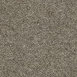 HAY Mags Soft Lounge Sofa Armlehne Links, braungrau Beine schwarz Stoff Divina Melange 260 Naht schwarz 324x154x67cm