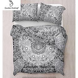 Colcha de algodón con diseño de mandala hippie, hindú, estilo bohemio