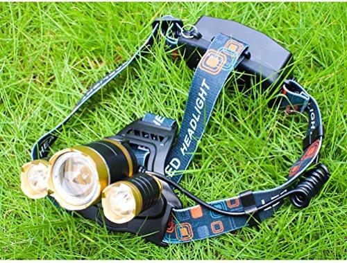 3000 Lumen Scheinwerfer, Taschenlampe 3 XM-L T6 LED, Wand-Ladegerät und der Akku, Wandern, Camping, Reiten, Angeln, Jagen, Outdoor-Abenteuer. - 6