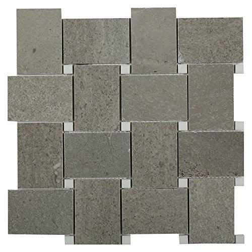 Splashback Tile odldygrycryswt nicht zutreffend Orchard Lady grau mit Kristall weiß 11in. x 10mm Marmor Mosaik Fliese (Lady Mosaik)