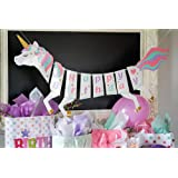 Party Propz® Unicorn Happy Birthday Banner for Unicorn Party Supplies