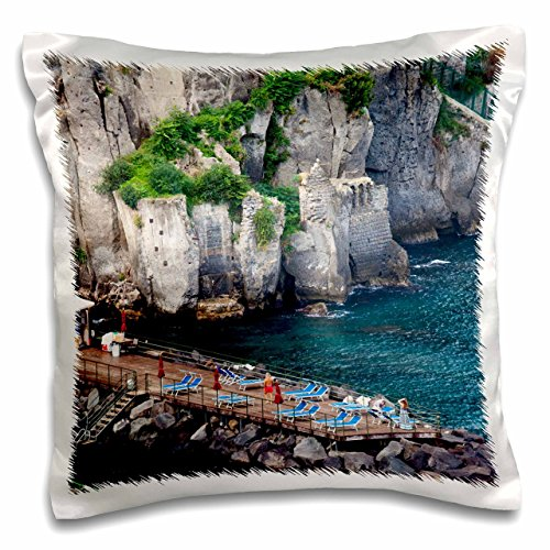 3dRose Italien, Sorrento, Amalfi Küste, Sonne Baden dock-eu16 teg0513-terry Eggers-Pillow Fall, 16 von 40,6 cm (PC 138322 _ 1) Sorrento Fall