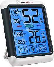 ThermoPro TP55 digitales Thermo-Hygrometer Innen Thermometer Hygrometer Temperatur und Luftfeuchtigkeitmessgerät mit Raumkli