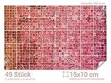 GRAZDesign 766062_15x10_70 Fliesenaufkleber Mosaik - Muster Rot | mit Fliesenbildern die Fliesen-Wände überkleben (Fliesenmaß: 15x10cm (BxH)//Bild: 105x70cm (BxH))