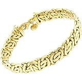 Bracciale Bizantina ovale oro doublé 13 mm lunghezza a scelta uomo donna gioielli braccialetto regalo dalla fabbrica tendenze