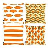 Willow & Smith Couvre-lit décoratif Taie d'oreiller Housses de coussin pour canapé...