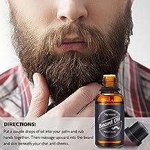 Skymore Bartöl mit Ätherische Öl Squalane und Vitamina E, Beard Oil, Intensiver Feuchtigkeitsspender, Bartpflegeöl für Männer, 30ml