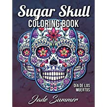 sugar skull coloring book a day of the dead coloring book with fun skull designs