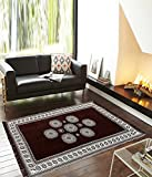 #5: Zesture Bring Home Premium living room cotton carpet/rug / durriers-(Brown, 7ft x 5 ft)