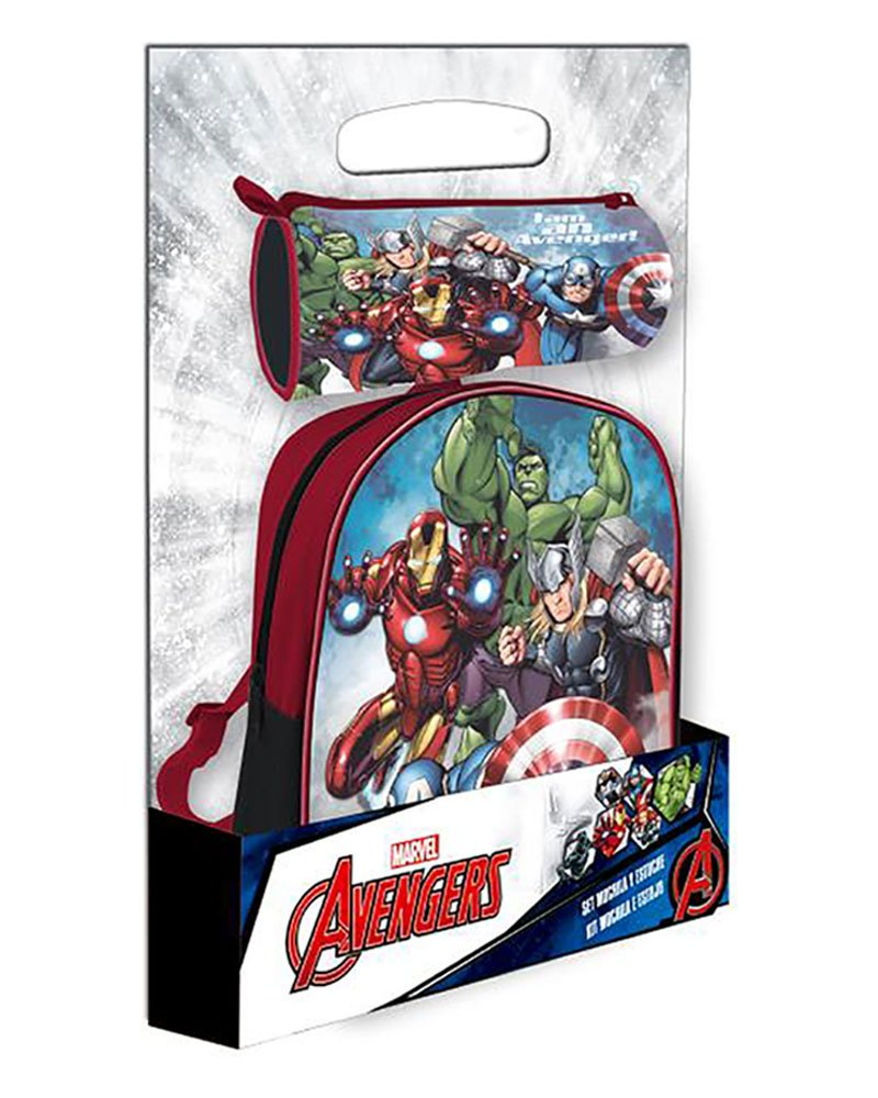 Disney–Mochila Avengers + Estuche Offerte, ast4372