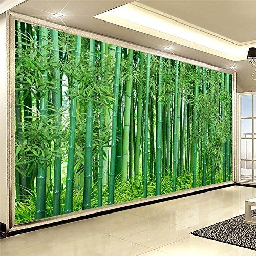 Preisvergleich Produktbild LWCX Im Chinesischen Stil Hd Grüner Bambus Wald Landschaft Wandbild Tapete Wohnzimmer Fernseher Sofa Hintergrund Wandverkleidung Fresco 200X140CM