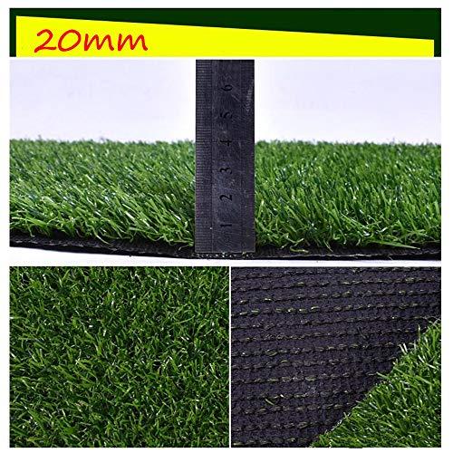 Artificial Lawn XIAODONG 20 MM Stapelhöhe Spleißbar Kunstrasen Wasserdicht Kein Ausbleichen Speicher Dekoration/Schule/Spielplatz/Hundematte (Size : 2 * 5m)