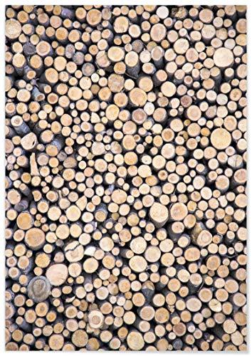 Panorama® Póster Mural Madera 50 x 70 cm   Láminas Decorativas Pared   Impreso en Papel 250gr   Cuadros Paisajes   Póster Naturaleza   Cuadros Decoración Salón