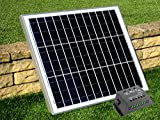 40W Solar Panel with 10A Charge Controller - for 12V Battery, Camping, Caravan, Boat, Shed by PK Green