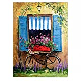 STJK$BMJW Hand Gemalte Öl Home Decor Malerei Messer Gemälde Landschaft Bilder 50Cmx65Cm (Nur Leinwand)