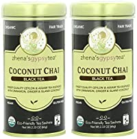 Zhenas Gypsy Tea Coconut Chai Organic Tea Bags - 22 Ea, (Pack of 2)