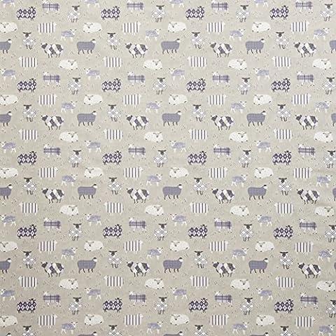 iliv Baa GRIS ANTHRACITE NOUVEAUTÉ imprimé mouton tissu Matériel, 100% coton pour rideaux,Romain Stores,coussins,tapisserie,Loisirs / artisanat. idéal garçons ou filles chambre, crèche un pays