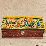Show Kart Brown Color Wooden Rajasthani Art Work Jewellery Box 1007