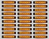 30 Stück x 6 LED Bernste Leuchte Lampe LKW Trailer Indicator Motorhome Seite 24V
