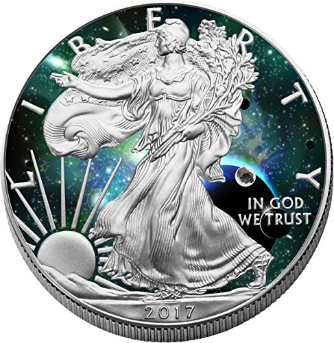 Cosmic Investment 2017 American Eagle 1oz Silber 0.999 coloriert (American Eagle Silber-dollar)