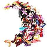 100pcs/Candy Color lazo Ponytail Holder elástico banda/gomas para el pelo niñas accesorios para el pelo color cinta de nudo pelo hembra