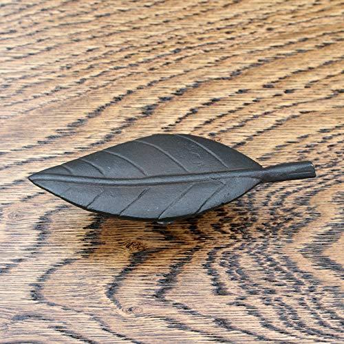 Knobs Cupboard,Kitchen Door Drawer Cabinet knobcast iron, Compatible for black, Leaf leaves (Leaf Knob 106mm no26) - Black Iron Cabinet Knob