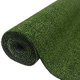 Festnight Kunstrasen Rasenteppich PP-Kunstrasen 1,5 x 5 m / 7 - 9 mm UV-Beständig Ergänzung zu Terrasse Garten oder Balkon - Grün
