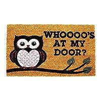 Natural Coir Non Slip Floor Entrance Door Mat Indoor Outdoor OWL 40x60cm