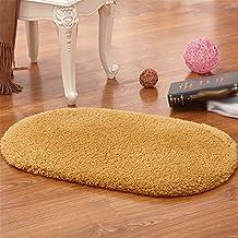 Refuerzo de las alfombras de interior Alfombrillas absorbentes antideslizantes de puerta de baño ovales espesas Tapetes, alfombras de piso ( Color : 2 , Tamaño : 60*90CM )