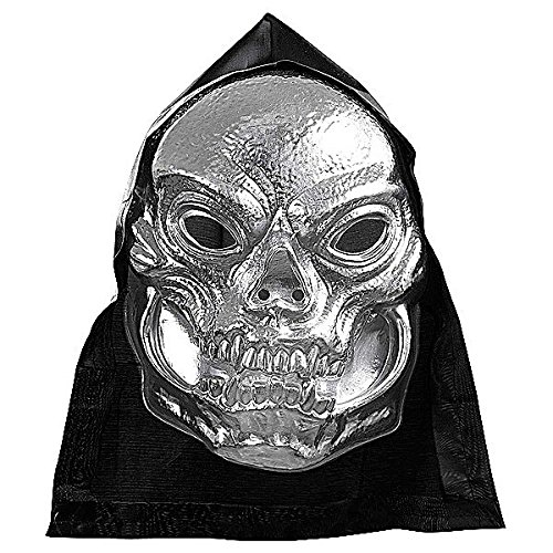 Metallic Maske Skull (HOODED METALLIC PVC SKULL)
