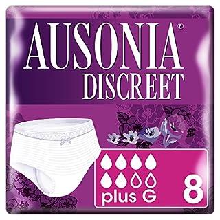 Ausonia Discreet Pants Plus G - Underwear for Bladder Leaks-Pack of 8